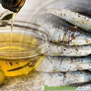 Aceite de oliva y pescado