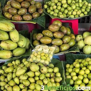 Variedad de frutas tropicales